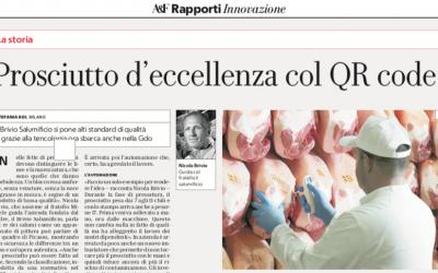 """Affari&Finanza, La Repubblica: """"Prosciutto d'eccellenza con QR Code"""""""