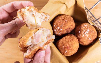Crocchette di patate con prosciutto cotto
